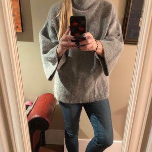 Grey wool/mohair sweater.